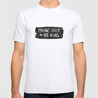 Make Shit + Be Kind Mens Fitted Tee Ash Grey SMALL