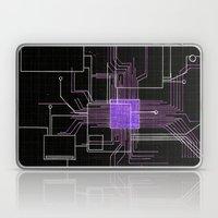 Circuit Board Purple Laptop & iPad Skin