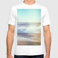 California Ocean Dreaming Mens Fitted Tee White SMALL