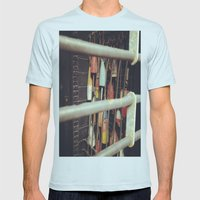 Gate Mens Fitted Tee Light Blue SMALL