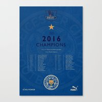 Tribute to Leicester Football Club - 2016 Premier League Champions, BLUE version Canvas Print