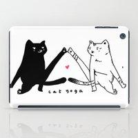 cat yoga iPad Case