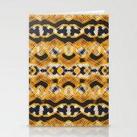 Montana Stripe - Gold Stationery Cards