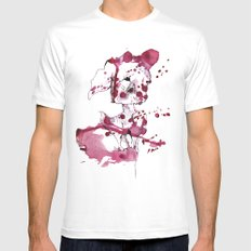 Spotted kitty fawn SMALL White Mens Fitted Tee