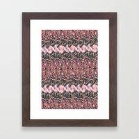 Red Texture  Framed Art Print
