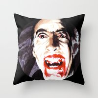 The Horror of Dracula Throw Pillow