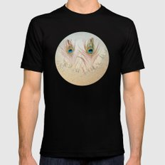 Staring Out the Icy Window SMALL Black Mens Fitted Tee