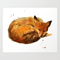 Fox Painting, Fox Print Art Print