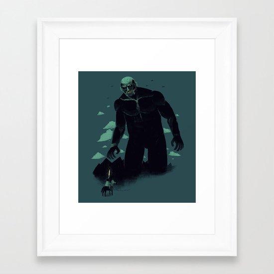 shadow of the titan Framed Art Print