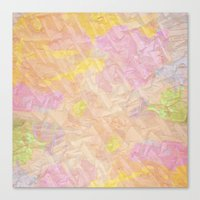 Abstract painting on a stone Canvas Print