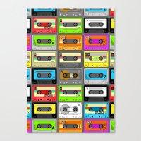 Retro 80s Cassette Tape … Canvas Print