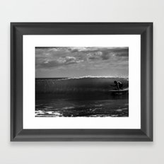 Surf Crab Framed Art Print