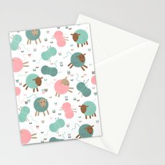 Knitting sheep Stationery Cards