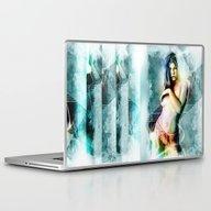 Jessica Biel Digital Pai… Laptop & iPad Skin