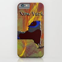 iPhone Cases featuring New York Map by Roger Wedegis