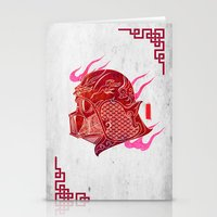 Red Darth Stationery Cards