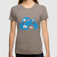 The Great Rainbow Cloud Robbery Womens Fitted Tee Tri-Coffee SMALL