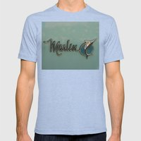 Marlin Mens Fitted Tee Tri-Blue SMALL
