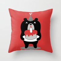 Cake Bear Throw Pillow