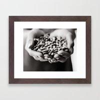 Cleaning Beans Framed Art Print