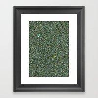 Blue/Green Dot Color Des… Framed Art Print