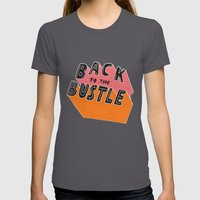 Back To The Bustle Womens Fitted Tee Asphalt SMALL