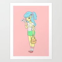 Bartoon Girl Art Print