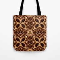 Tote Bag featuring Abstract Geometric Light… by J&C Creations