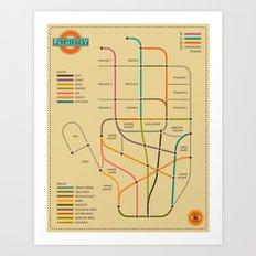 PALMISTRY - Subway Style Art Print
