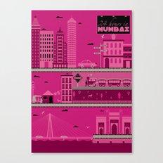 24 hours in Mumbai Canvas Print