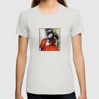 Chloe Womens Fitted Tee Silver SMALL