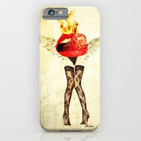 lips iPhone & iPod Cases featuring Lips by Alec Goss