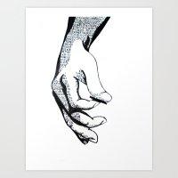 lyrics Art Prints featuring Lyrics by Ashley Jones