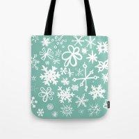 Snowflake Pond Tote Bag