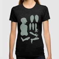 puppet Womens Fitted Tee Tri-Black SMALL