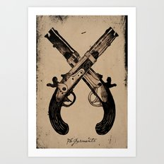 Keep Your Powder Dry Art Print