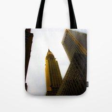 Lighting the Chrysler Building Tote Bag