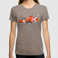 frying nemo Womens Fitted Tee Tri-Coffee SMALL
