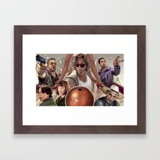 Big Lebowski (alt version) Framed Art Print