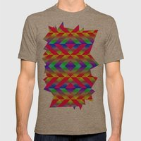 Rainbow Mens Fitted Tee Tri-Coffee SMALL