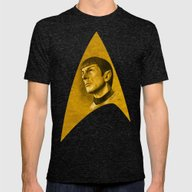 Homage To Leonard Nimoy … Mens Fitted Tee Tri-Black SMALL