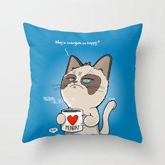 Grumpy's Mid-week Blues Throw Pillow