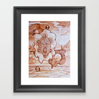 Taino Sun God Framed Art Print