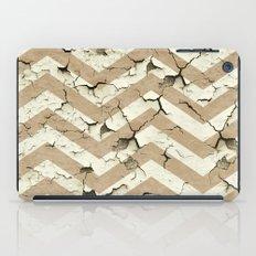 Peeling Chevrons Taupe iPad Case