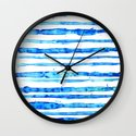 Blue Ink Stains Wall Clock