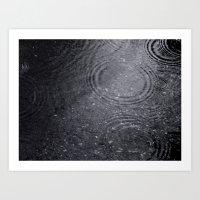 Dark Rain. Art Print