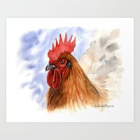 The COCK A087 Art Print