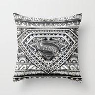 Hope Sign Aztec Pattern Throw Pillow