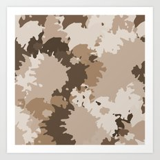 Camo Brown Art Print