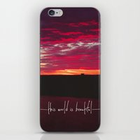 this world is beautiful iPhone & iPod Skin